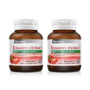 BEWEL  TOMATO EXTRACT 60 MG PLUS VITAMIN E (แพ็คคู่)
