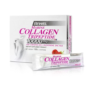 Bewel - Marine Collagen Tripeptide 10,000 mg (14g/ชอง) 12 ซอง/กล่อง