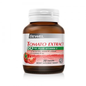 Bewel - Tomato Extract 60 mg PLUS Vitamin E 30 caps
